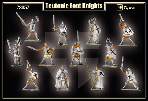 Mars 1/72 1st Half XV Century Teutonic Foot Knights (48) Kit