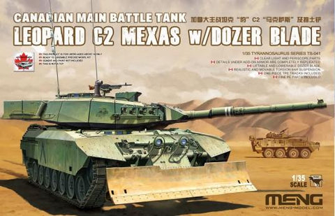 Meng Military Models 1/35 Leopard C2 Mexas Canadian Main Battle Tank w/Dozer Blade Kit