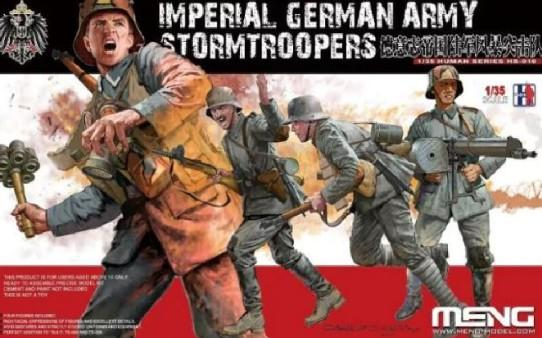 Meng Military Models 1/35 Imperial German Army Stormtroopers Figure Kit (4)