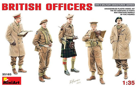 MiniArt 1/35 British Officers (5) Kit