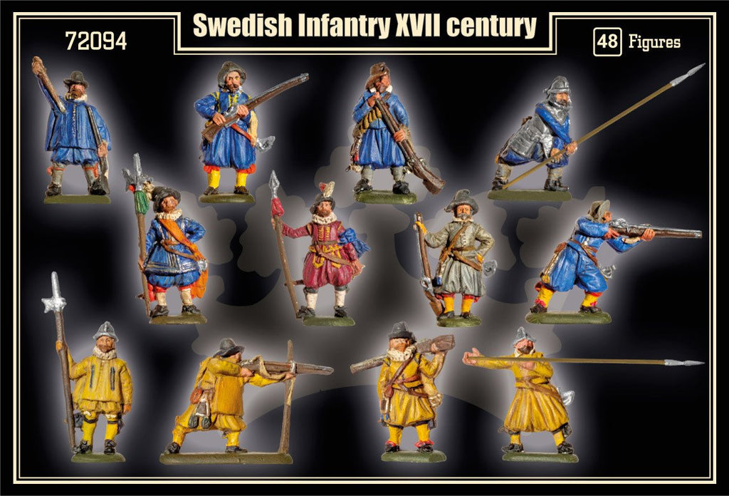 Mars 1/72 XVII Century (Early) Swedish Infantry (48) Kit