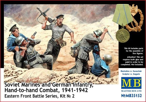 Master Box Ltd 1/35 Hand to Hand Combat Soviet Marines & German Infantry Eastern Front 1941-42 (5) Kit