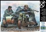 Master Box Ltd 1/35 German Motorcyclists WWII Era (4) Kit