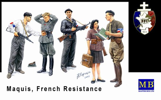 Master Box Ltd 1/35 Maquis French Resistance (5) Kit