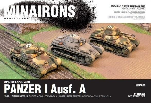 Minairons Miniatures 1/100 Spanish Civil War: Panzer I Ausf A Tank (5) Plastic Kit