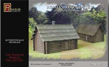Pegasus Military 1/72 Russian Log House (2) (Snap Kit)