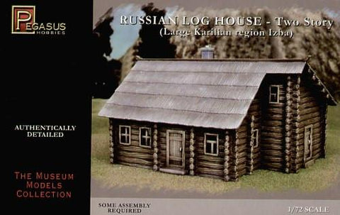 Pegasus Military 1/72 Russian 2-Story Log House Snap Kit