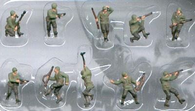 Pegasus Military 1/144 American Infantry WWII (10) (Painted)