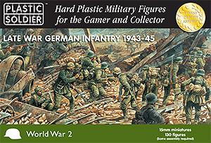 Plastic Soldier 15mm Late WWII German Infantry 1943-45 (130) Kit