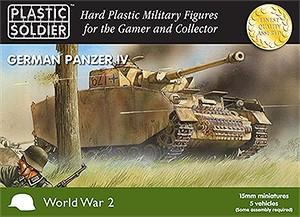 Plastic Soldier 15mm WWII German Panzer IV Tank (5) Kit