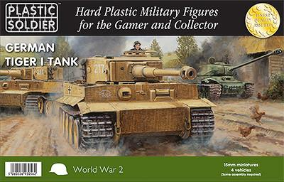 Plastic Soldier 15mm WWII German Tiger I Tank (4) Kit