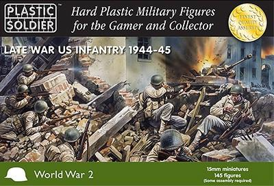 Plastic Soldier 15mm Late WWII US Infantry 1944-45 (145) Kit