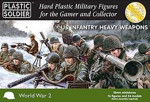 Plastic Soldier 15mm WWII US Infantry (76) w/Heavy Weapons Kit