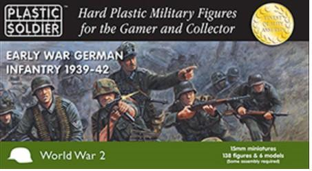Plastic Soldier 15mm Early War German Infantry 1939-42 (138) Kit