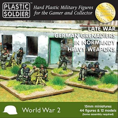 Plastic Soldier 15mm Late WWII German Grenadiers (44) w/Heavy Weapons Normandy Kit