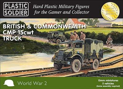 Plastic Soldier 15mm WWII British & Commonwealth CMP 15cwt Trucks (5)