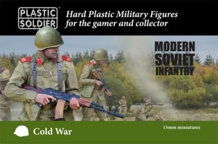 Plastic Soldier 15mm Cold War Modern Soviet Infantry Kit (125)