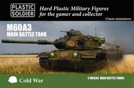 Plastic Solder 15mm Cold War M60A3 Main Battle Tank (5)