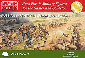 Plastic Soldier 1/72 WWII Russian Infantry Summer Uniform (57) Kit