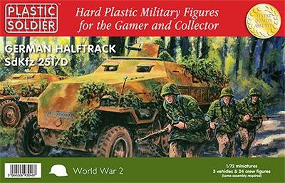 Plastic Soldier 1/72 WWII German SdKfz 251/D Halftrack (3) Kit