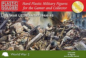 Plastic Soldier 1/72 Late WWII US Infantry 1944-45 (57) Kit