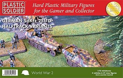 Plastic Soldier 1/72 WWII German SdKfz 251/D Halftrack (4) Kit