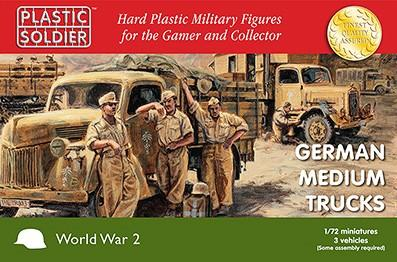 Plastic Soldier 1/72 WWII German Medium Trucks (3) Kit