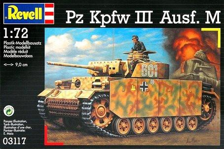 Revell Germany 1/72 PzKpfw III M Tank Kit