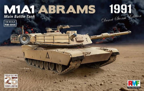 Rye Field Models 1/35 M1A1 Abrams Main Battle Tank Persian Gulf War 1991 Desert Storm Edition Kit