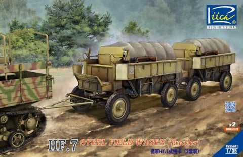 Riich 1/35 HF7 Steel Field Wagon Trailers (2) Kit