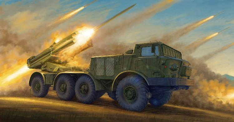Trumpeter Military Models 1/35 Russian 9P140 TEL of 9K57 Uragan Multiple Launch Rocket System (New Variant) Kit
