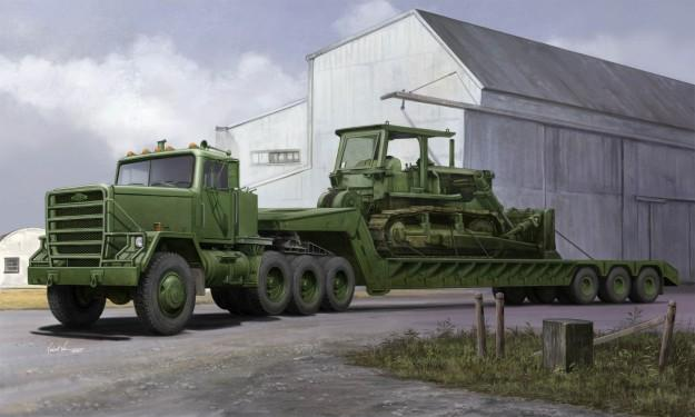 Trumpeter 1/35 M920 Tractor Tow w/M870A1 Semi-Trailer (New Tool) Kit