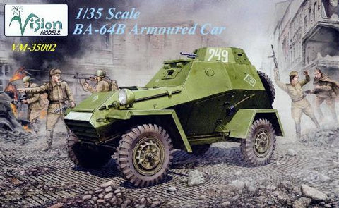 Vision Models 1/35WWII Russian BA64B Armored Car Kit