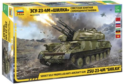 Zvezda Military 1/35 ZSU23-4M Shilka Self-Propelled Anti-Aircraft Weapon System Tank (Re-Issue) Kit