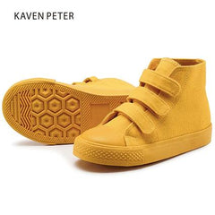 AFDSWG Spring And Autumn Bow Low Heel Yellow Sneakers For Girls