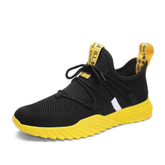 Baideng Summer Breathable Running Sneakers for Men Comfortable Mesh Sports Sneakers Male Yellow Athletic Footwear Zapatillas