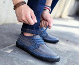Summer Men's Breathable Lace Up Trainers Shoes