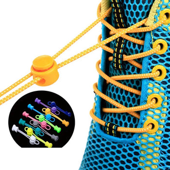 1 pair Lazy Laces Sneaker ShoeLaces Elastic Shoe Laces