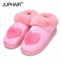 New Women Girl High Quality Winter Home Slipper Love Shape Shoe Non-slip Soft  Warm Bedroom for Couples Couples Iindoor Slippers