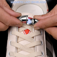 1Pair Elastic Magnetic 1Second Locking ShoeLaces Creative Quick No Tie Shoe laces