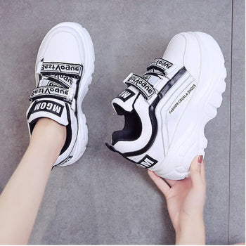Women Chunky Sneakers Casual Shoes For Woman Leather Sports