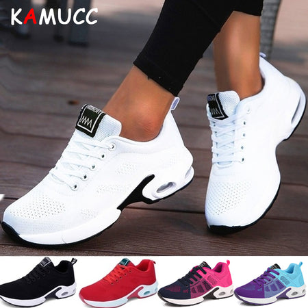 KAMUCC New Platform Ladies Sneakers Breathable Women Casual Shoes