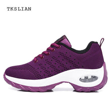 Summer shoes woman 2019 platform purple women sneakers ladies air mesh breathable walking footwear female purple