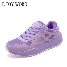 E TOY WORD Women Sneakers Purple Fashion Breathable Walking Mesh Lace Up Women Shoes 2019 Tenis Feminino Casual Shoes Female