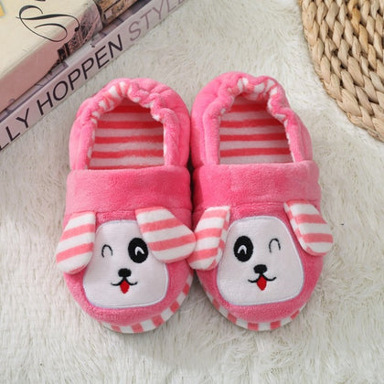 Winter Cute Penguin Kids Slippers Comfortable Baby Warm Cotton Shoes