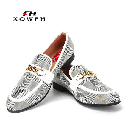 XQWFH Men Shoes Fashion Men's Casual Shoes Handmade Loafers
