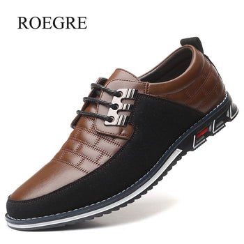 New Big Size 38-48 Oxfords Leather Men Shoes