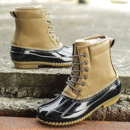 STS Winter Women's Boots Lady Duck Boot With Waterproof Zipper Rubber Sole