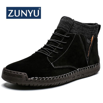 ZUNYU Winter Warm Men Snow Boots Sneakers Big Size 48