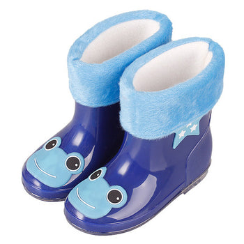 New Autumn Winter Rain Boots Children With Plush Warm Ankle Boots